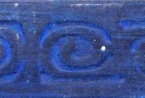 Pinturas Fayma Azul Báltico patinado sobre negro Moldura MB 210