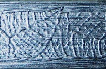 Pinturas Fayma Nácar patinado sobre fondo negro Moldura MB 204