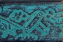 Pinturas Fayma Verde mar patinado sobre negro Moldura IN 201