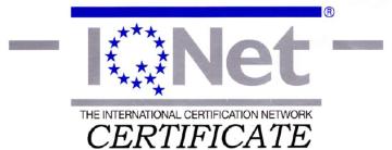 Pinturas Fayma certificado de Calidad AENOR IQNet